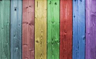 Tavole in legno colorato