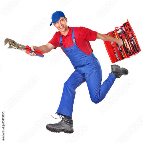 the plumber is comming!
