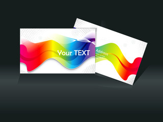 abstract colorful rainbow business card template
