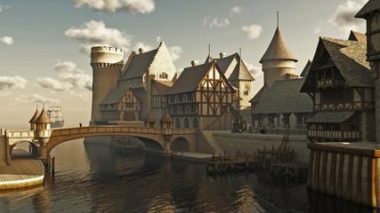 Medieval or Fantasy Docks