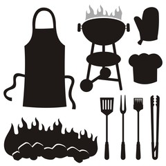 Barbeque silhouettes