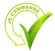 je commande sur symbole validé vert