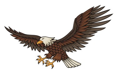 Eagle attacking