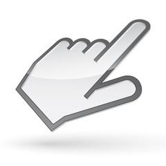 Left-handed cursor