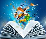 Fototapete Ausbildung - öffnen - Buch