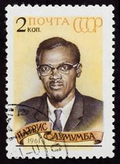 Postal stamp. Patrice Emery Lumumba, 1961