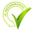 je recommande sur symbole validé vert