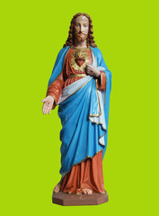Jesus Statue with Clipping Path