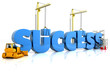 Building your success,  representing business development.