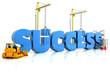 Building your success,  representing business development.