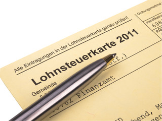 Lohnsteuerkarte 2011
