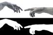 Hand Gottes und Adam 3D skulptur
