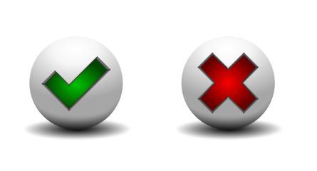 Icon Kugel 3D  zustimmen ablehnen