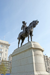 A Statue of King Edward VII of England in Liverpool