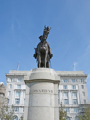 Statue of King Edward VII of England in Liverpool