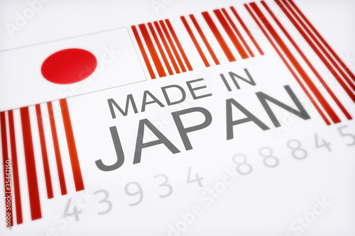 Product bar code of Japan concpet