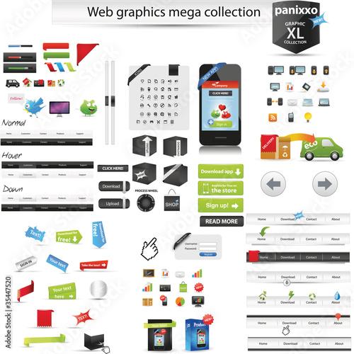 Web graphics mega collection - Panixxo series