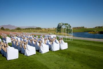 Wedding Setup at a Golf Course