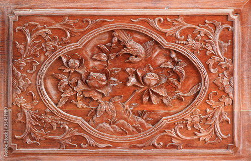 China wood carving