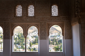 Alhambra de Granada. The Albaicin from The Oratory
