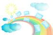 rainbow  message