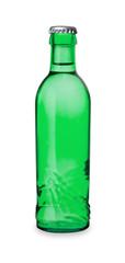 grüne Wasserflasche mit Kronkorken