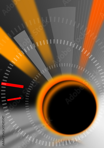 Time abstract background reflections