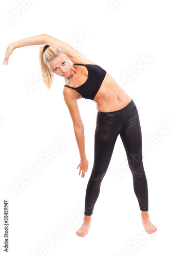 Young woman doing aerobics