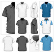 Vector. Men's polo-shirt design template.No mesh.