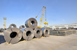 packed rolls and plate of steel sheet