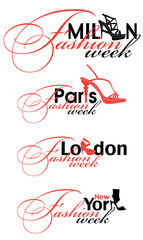Fashion week logo elements