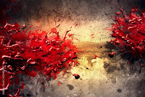 Leinwandbild Motiv Paint Splatter