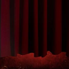 Sipario, tenda rossa, teatro
