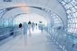Leinwanddruck Bild - Flughafen Terminal - Abflug Gate