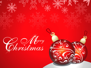 abstract merry chirstmas background
