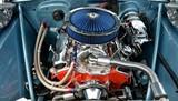 restored car engine poster