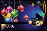 Fototapety Dj Christmas Party Flyer