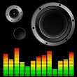music background with speaker vector illustration
