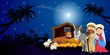 Giuseppe Maria e Gesu a Betlemme