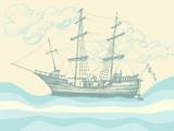 Vintage sailing boat