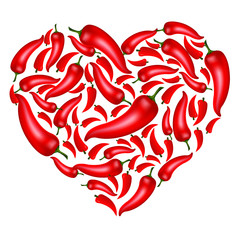 Chili Pepper Heart