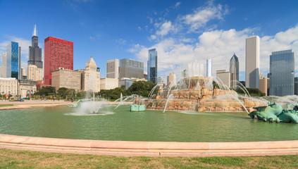 Grant Park Downtown Chicago Skyline