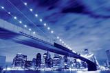 Brooklyn Bridge and Manhattan Skyline At Night, New York City - 35476554