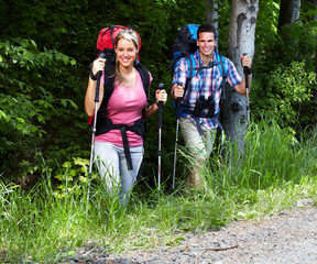 Hiking people