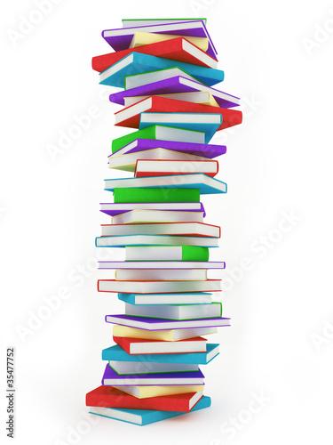 Bunter Buch Stapel