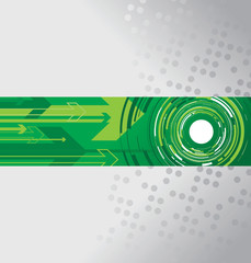 green circle and arrow background