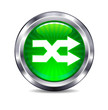 Shuffle route connection Internet button Icon