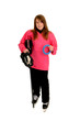 Pink Ringette Player
