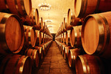 Fototapety Wine cellar with  barrels