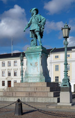 Monument to swedish king Gustav II Adolf in Gothenburg